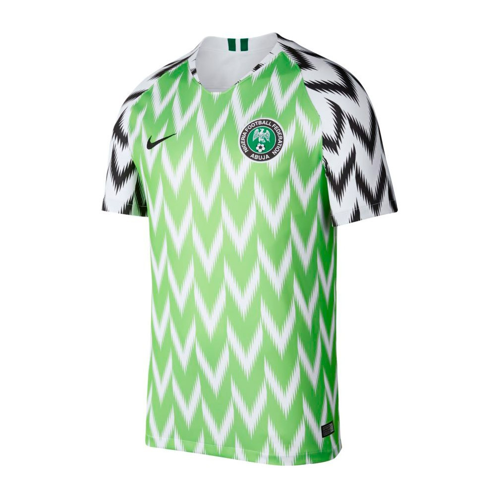 402982640ca88 Camiseta Nike Nigeria Breathe Stadium Primera Equipación 2018-2019  White-Black - Tienda de fútbol Fútbol Emotion