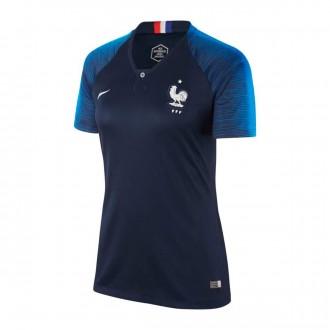 Camiseta  Nike Francia Breathe Stadium Primera Equipación 2018-2019 Mujer Obsidian-White