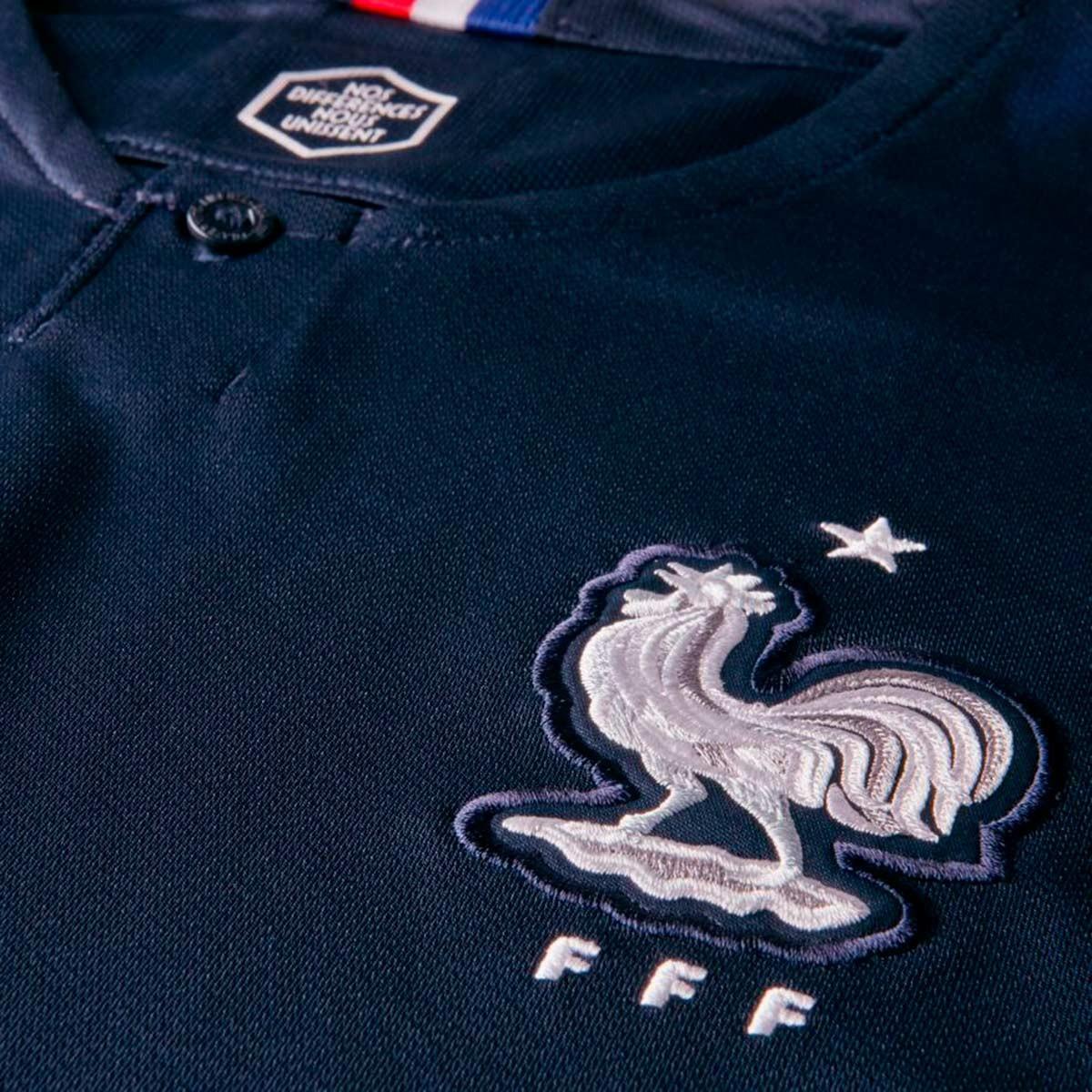 Camisola Nike França Breathe Stadium Equipamento Principal 2018-2019 Mulher  Obsidian-White - Loja de futebol Fútbol Emotion d424470974ac1