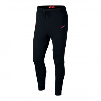 Pantalón largo  Nike Portugal Tech Fleece 2018-2019 Black-Gym red