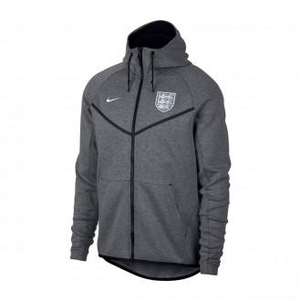 Chaqueta  Nike Inglaterra Windrunner 2018-2019 Carbon heather-Black-White