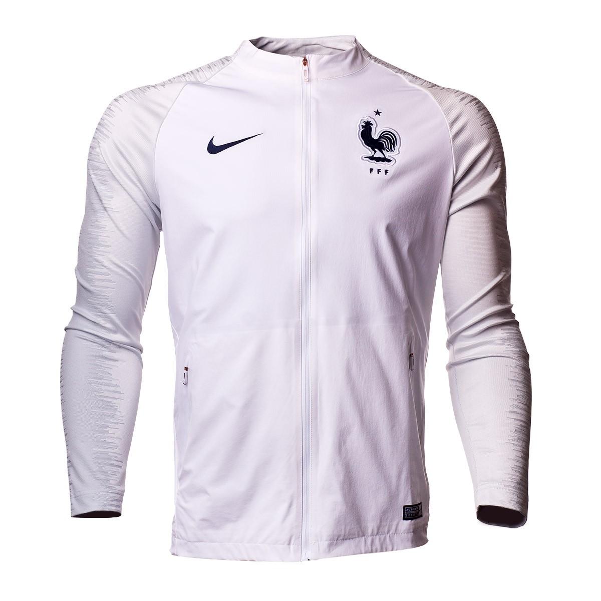 2b2226a21 Jacket Nike France Pre-Match Strike 2018-2019 White-Pure platinum ...