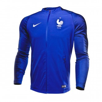Casaco  Nike Francia Pre-Match Strike 2018-2019 Deep royal blue-Obsidian-White