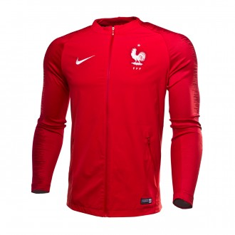 Casaco  Nike Francia Pre-Match Strike 2018-2019 University red-Gym red-White