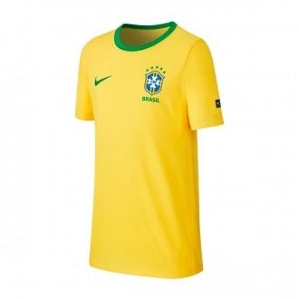 Camiseta  Nike Brasil 2018-2019 Niño Midwest gold-Lucky green