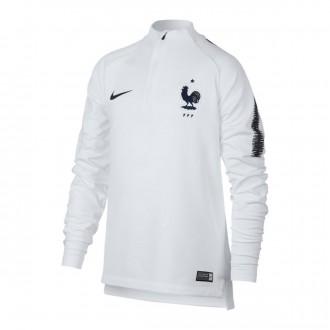 Sudadera  Nike Francia Dry Squad 2018-2019 Niño White-Obsidian