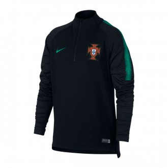 Sudadera  Nike Portugal Dry Squad 2018-2019 Niño Black-Kinetic green