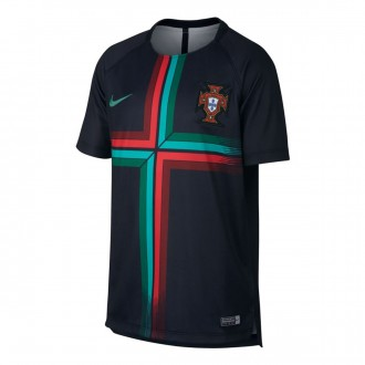 Camiseta  Nike Portugal Dry Squad GX 2018-2019 Niño Black-Kinetic green