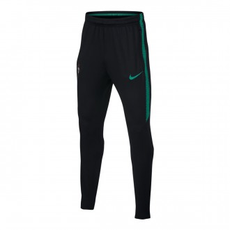 Pantalón largo  Nike Portugal Dry Squad 2018-2019 Niño Black-Kinetic green