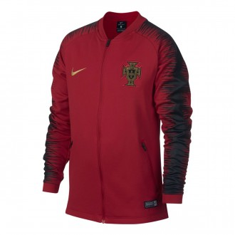 Chaqueta  Nike Portugal Pre-Match 2018-2019 Niño Gym red-Black