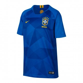 Jersey  Nike Kids Brazil Breathe Stadium 2018-2019 Away Soar-Midwest gold