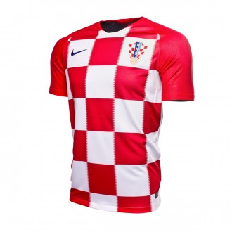 Camiseta  Nike Croacia Breathe Stadium Primera Equipación 2018-2019 Niño University red-White-Deep royal blue