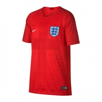 Jersey  Nike Kids England Stadium 2018-2019 Away Challenge red-Gym red-White