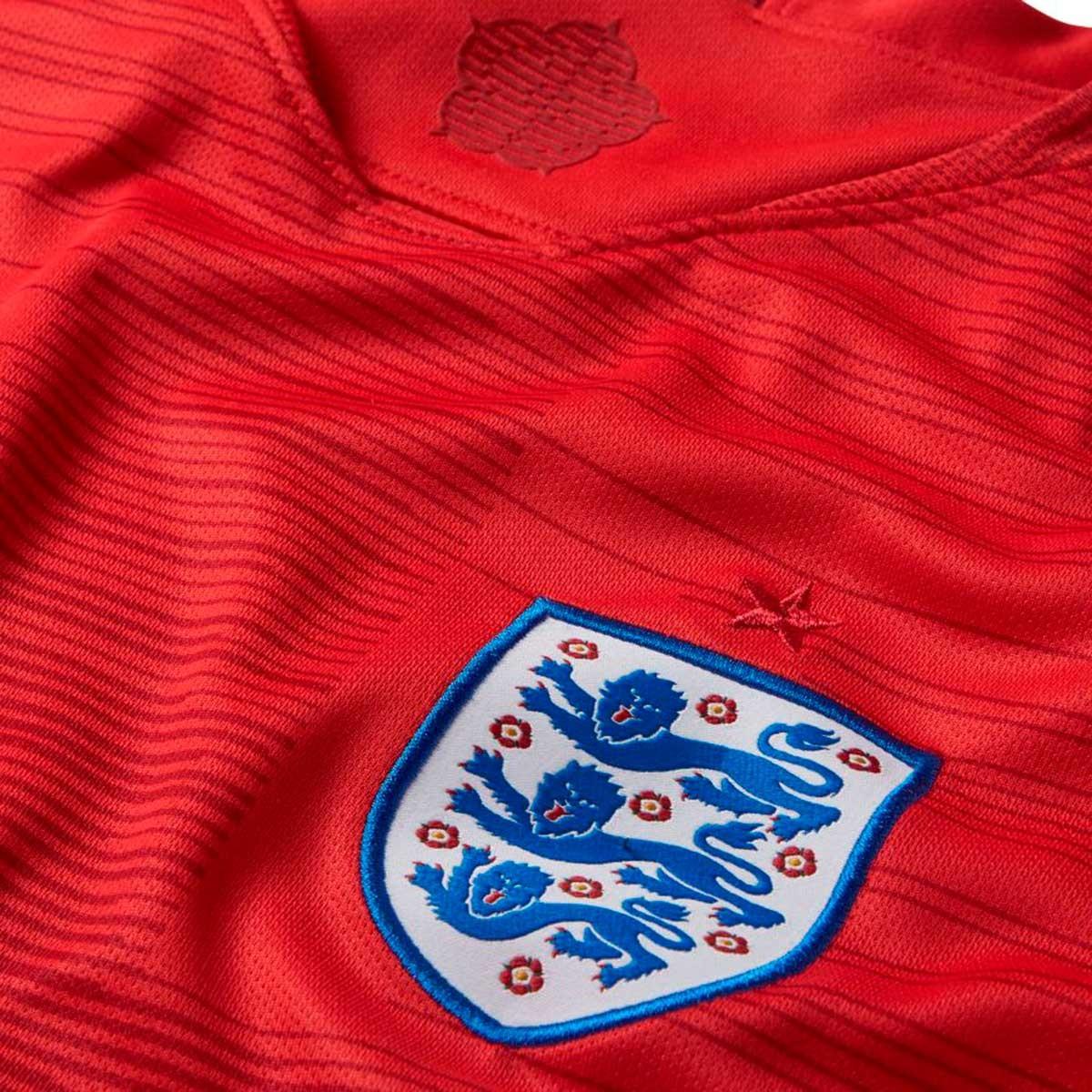 Camiseta Nike Inglaterra Stadium Segunda Equipación 2018-2019 Niño  Challenge red-Gym red-White - Soloporteros es ahora Fútbol Emotion 03177478dfdda