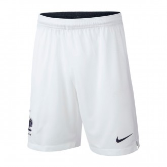 Short  Nike Francia Breathe Stadium Tenue Domicile 2018-2019 Enfant White-Obsidian