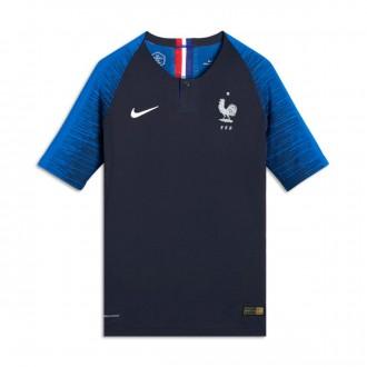 Camiseta  Nike Francia Vapor Primera Equipación 2018-2019 Niño Obsidian-White
