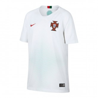 Jersey  Nike Kids Portugal Breathe Stadium 2018-2019 Away White-Gym red