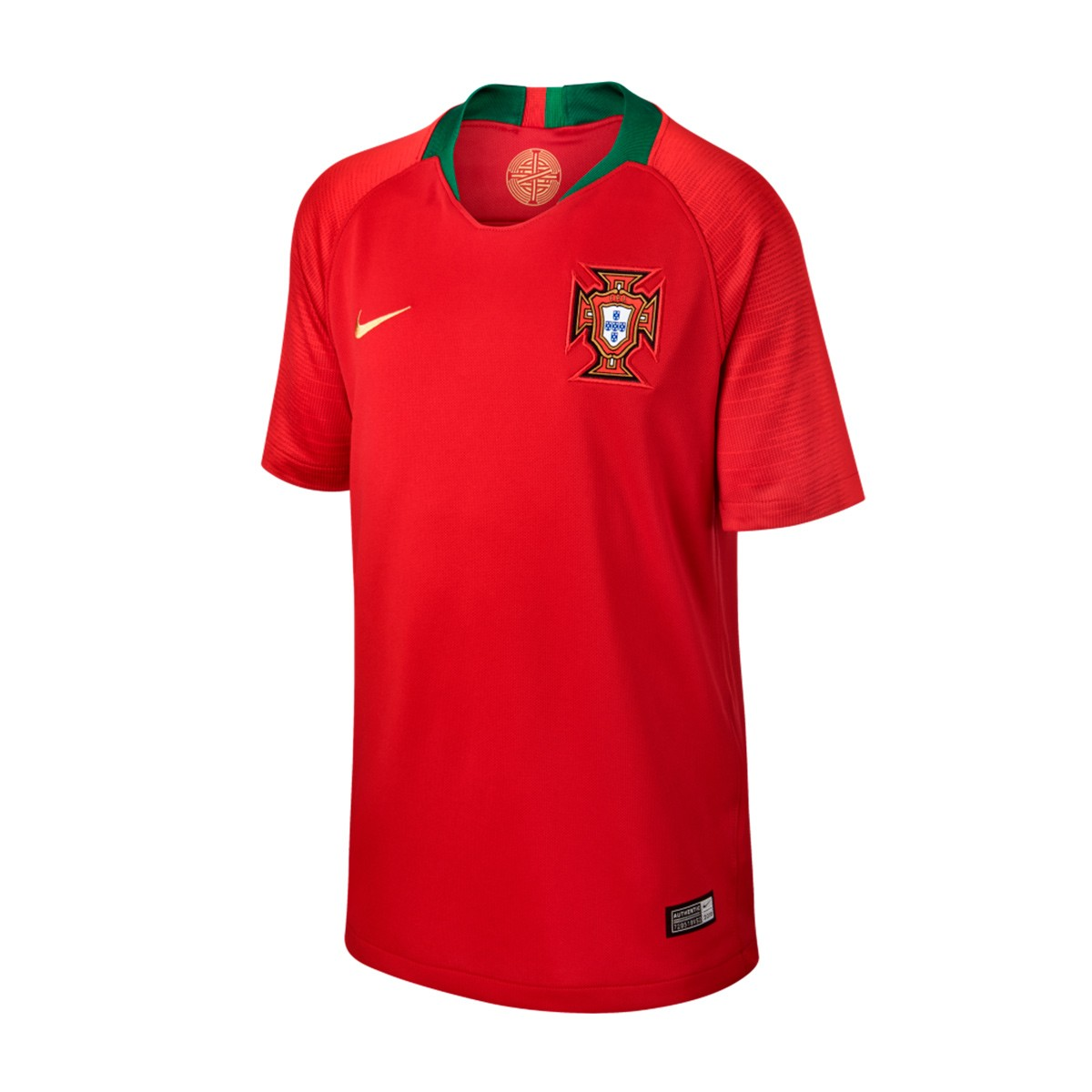 203a52d2c3f Nike Kids Portugal Breathe Stadium 2018-2019 Home Jersey. Gym red ...