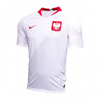 Jersey  Nike Kids Poland Breathe Stadium 2018-2019 Home  White-Sport red