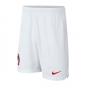Short  Nike Portugal Breathe Stadium Extérieur  2018-2019 enfant White-Gym red