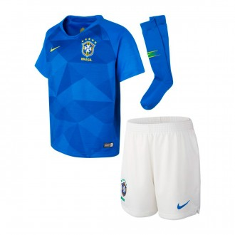 Kit  Nike Kids Brazil Breathe 2018-2019 Away Soar-Midwest gold