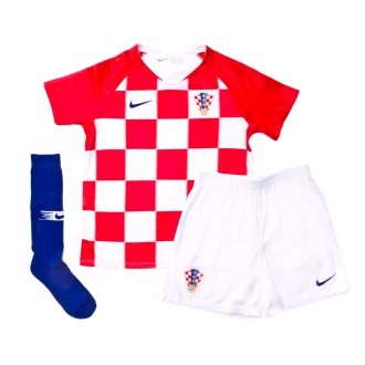 Conjunto  Nike Croacia Breathe Primera Equipación 2018-2019 Niño University red-White-Deep royal blue