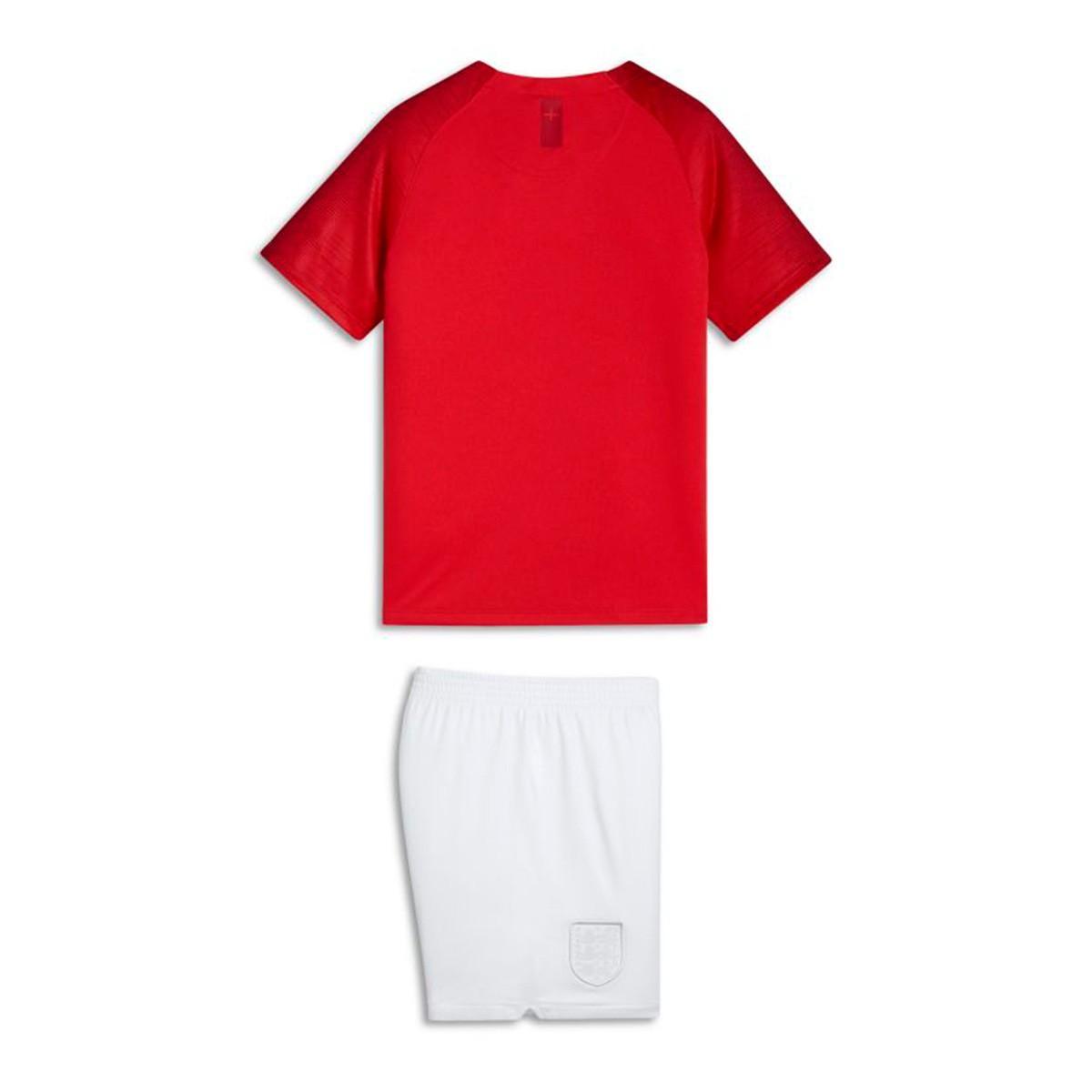 d639347d622d Kit Nike Kids England 2018-2019 Away Challenge red-White - Football ...