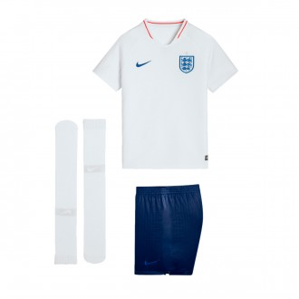 Kit  Nike Kids England Breathe 2018-2019 Home White-Sport Royal