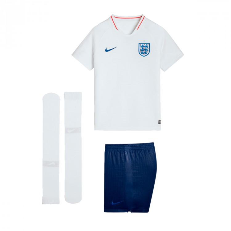 651252920f57f Kit Nike Kids England Breathe 2018-2019 Home White-Sport Royal ...
