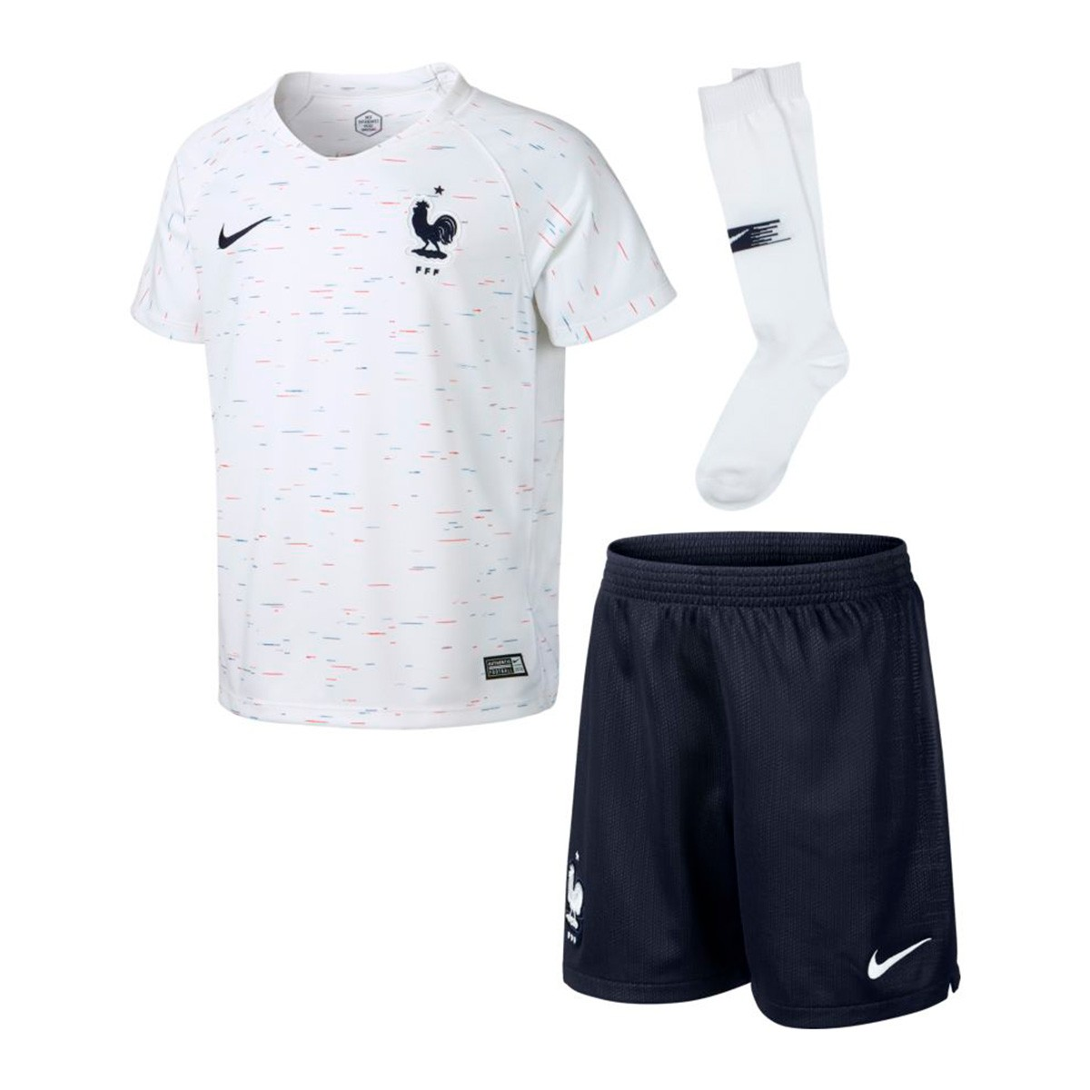 c97376464ad Nike Kids France Breathe 2018-2019 Away Kit. White-Obsidian ...