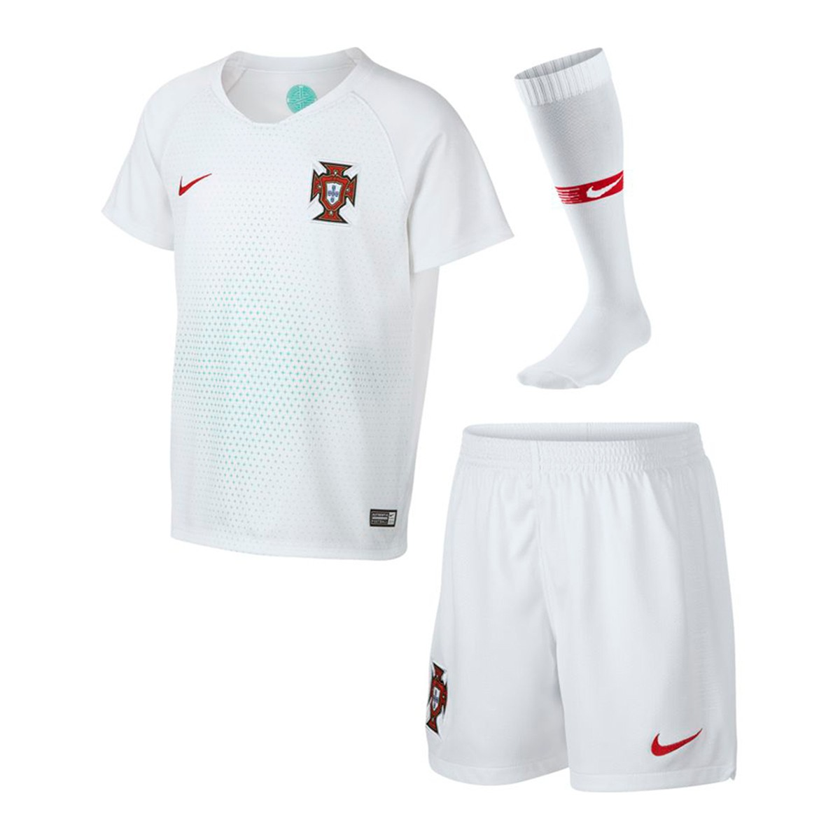dd4a64e61 Kit Nike Kids Portugal Breathe 2018-2019 Home White-Gym red - Tienda ...