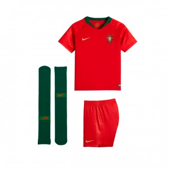 Conjunto  Nike Portugal Breathe Primera Equipación 2018-2019 Niño Gym red