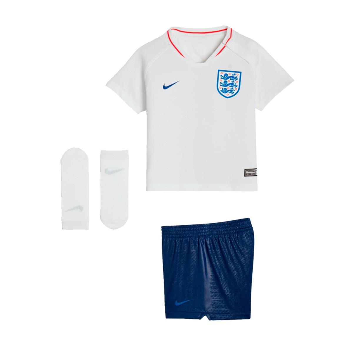 Kit Nike Infant England Breathe 2018-2019 Home White-Sport Royal ... 61b13057957