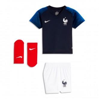 Conjunto  Nike Francia Breathe Primera Equipación 2018-2019 Bebe Obsidian-White