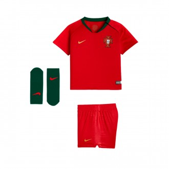 Conjunto  Nike Portugal Breathe Primera Equipación 2018-2019 Bebe Gym red