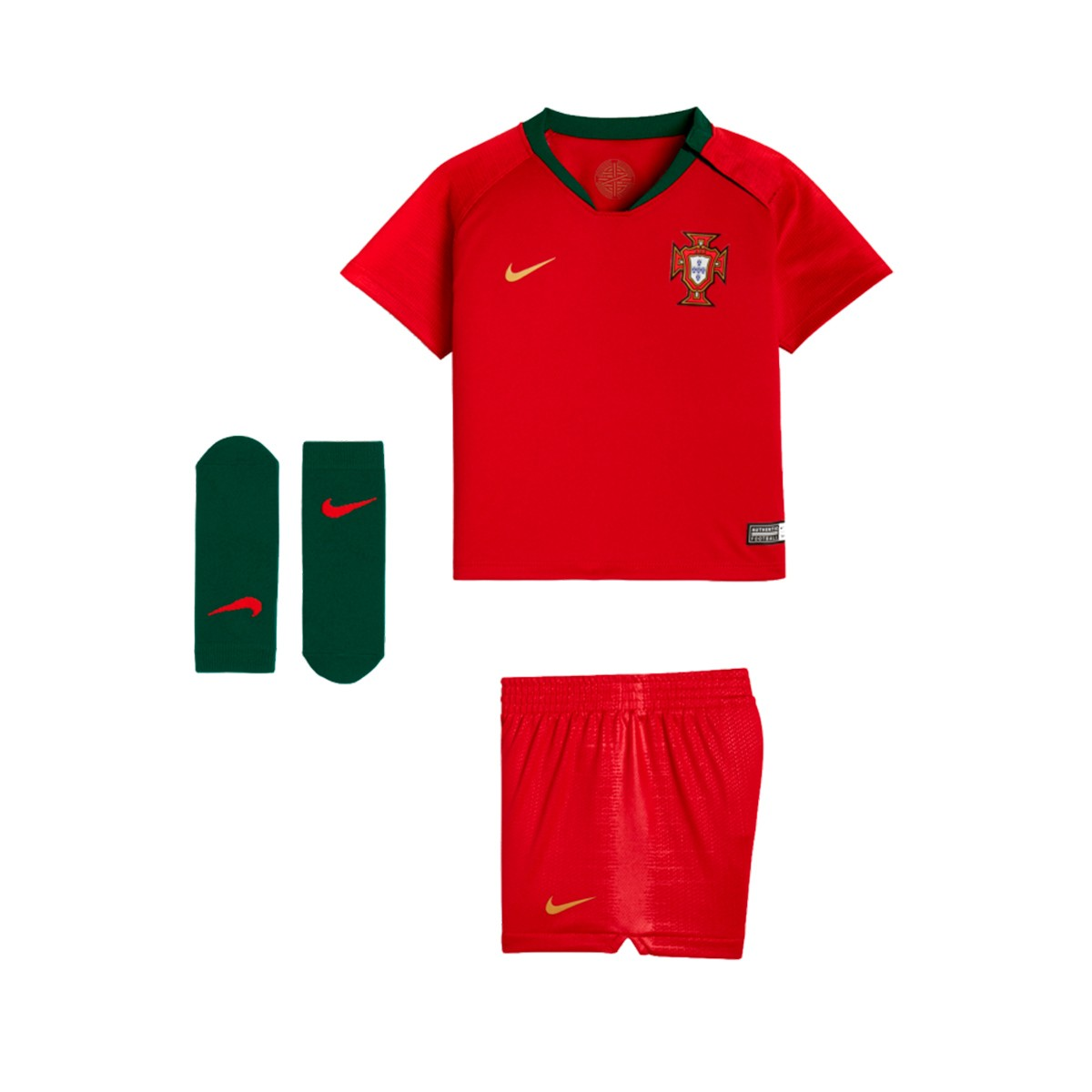 653748419 Kit Nike Infant Portugal Breathe 2018-2019 Home Gym red - Football ...