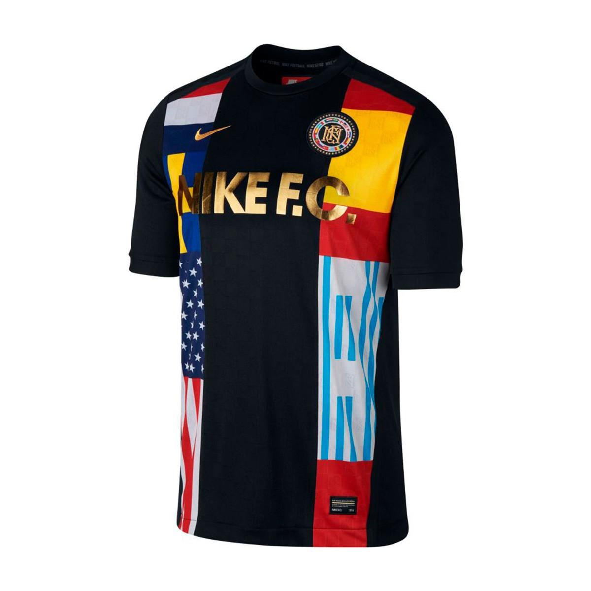 Camiseta Nike F.C. Black Tour yellow