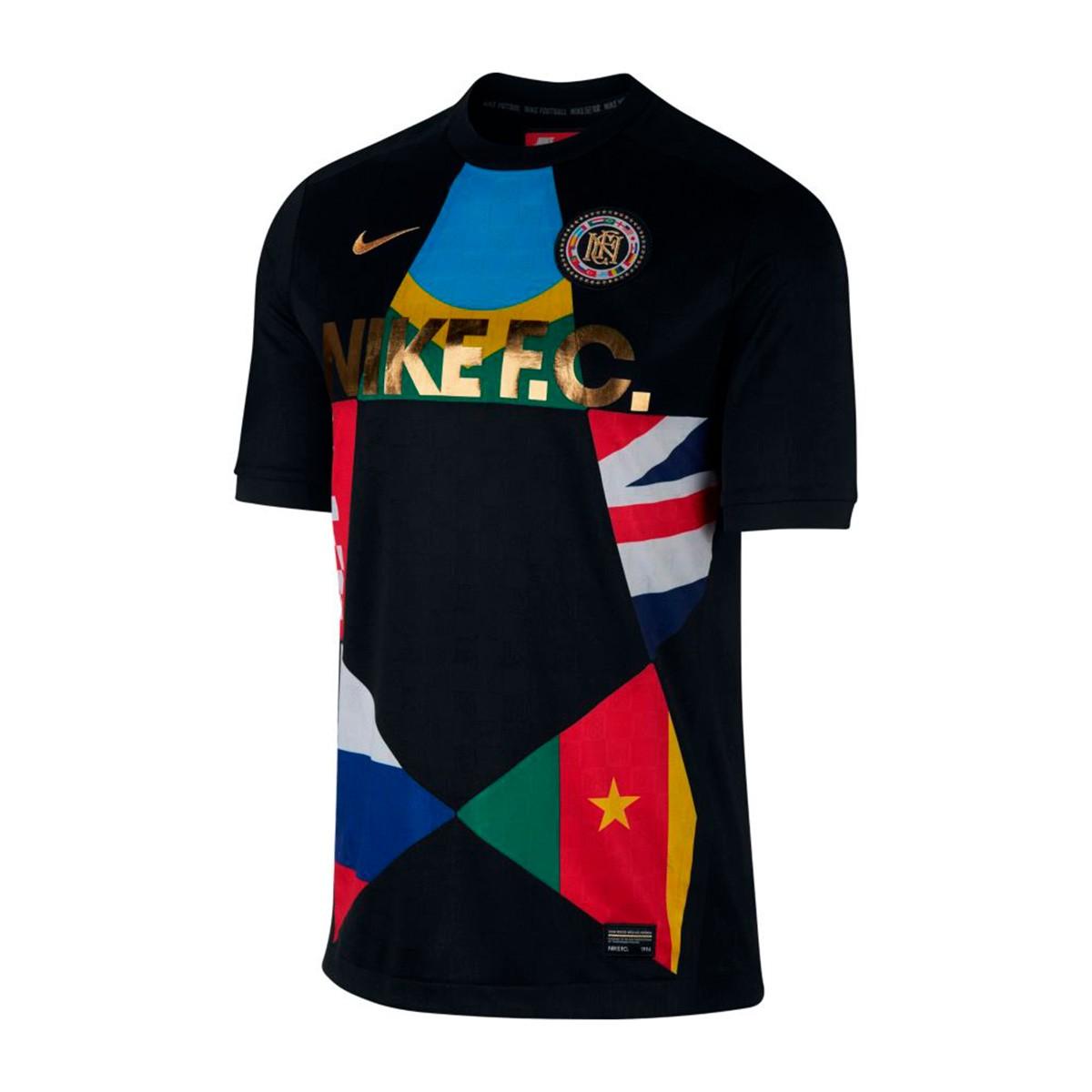 288dc64e7437 Jersey Nike Nike F.C. Black-University red - Tienda de fútbol Fútbol ...