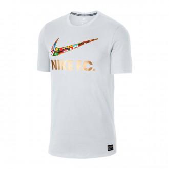Camiseta  Nike Nike F.C. Swoosh Flag White-Metallic gold