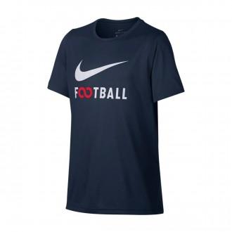 Camiseta  Nike Dry Football Niño Obsidian