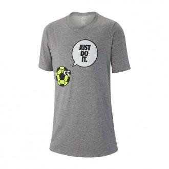 Camiseta  Nike Dry Talking Soccer Niño Dark grey heather-Volt