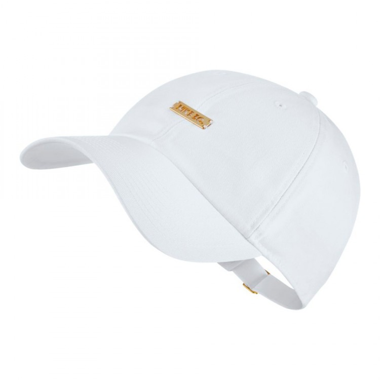 7a60552b2f172 Cap Nike Nike F.C. Heritage86 White-Metallic gold - Football store ...