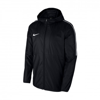 Raincoat  Nike Repel Park 18 Rain Woven Black-White