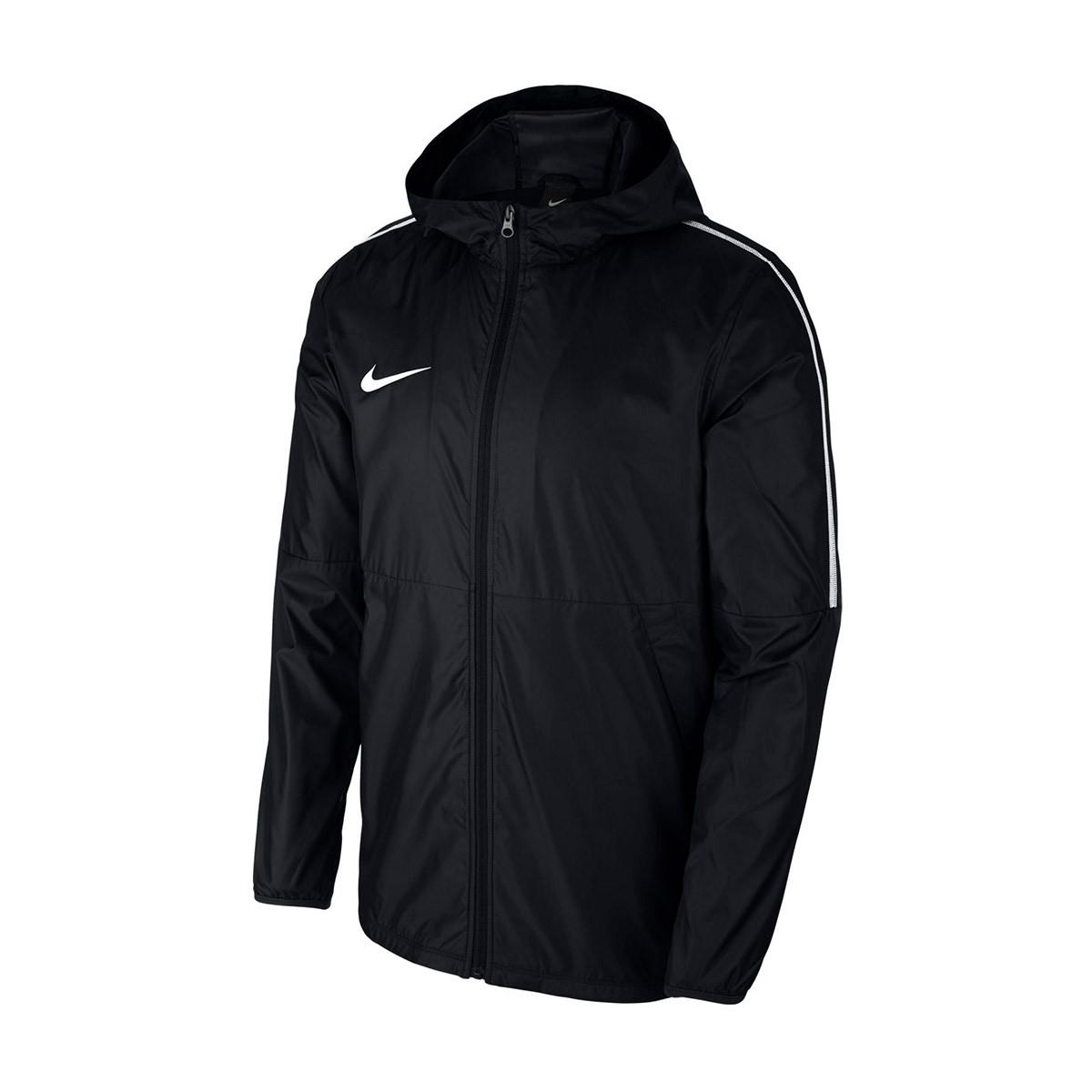 Guerrero lluvia Ceniza  Chubasquero Nike Park 18 Black-White - Tienda de fútbol Fútbol Emotion