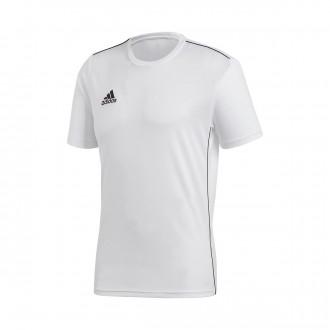 Camiseta  adidas Core 18 Training m/c White-Black