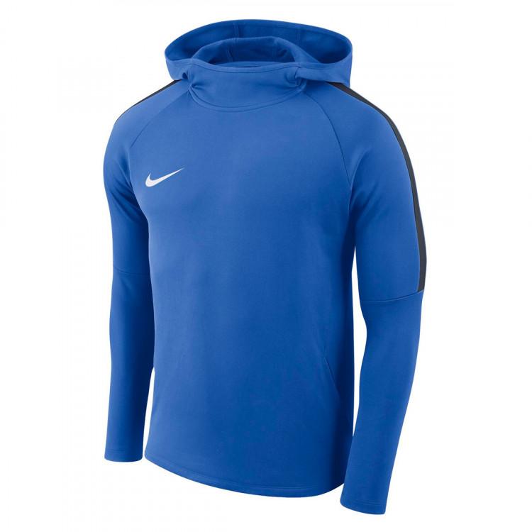 Sudadera Nike Academy 18 Hoodie Royal blue-Obsidian-White ... e1e956a1547