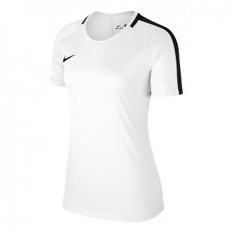 Camiseta  Nike Academy 18 Training m/c Mujer White-Black