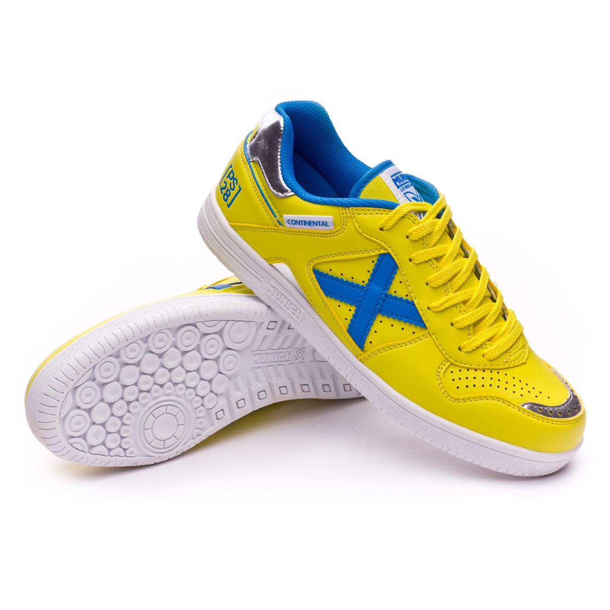3ed52d4d2a1 Futsal Boot Munich Continental V2 Paco Sedano Yellow-Blue - Football ...