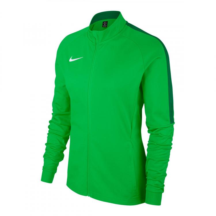 Jugando ajedrez Admitir arquitecto  Jacket Nike Woman Academy 18 Knit Light green spark-Pine green-White -  Tienda de fútbol Fútbol Emotion
