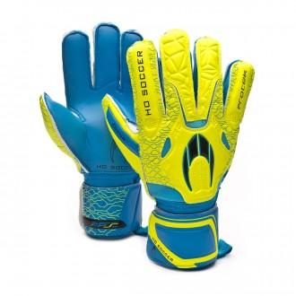 Guante  HO Soccer Basic Protek Yellow-Blue